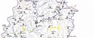Carte des cours d'eau